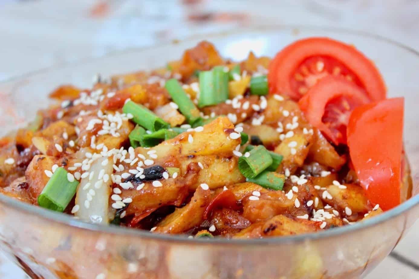 honey chilli potato recipe